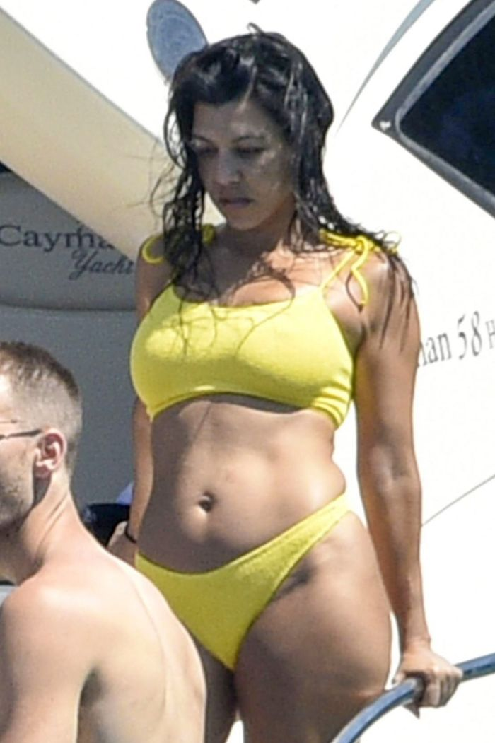 Kourtney Kardashian During Her Vacation On A Yacht In Corsica