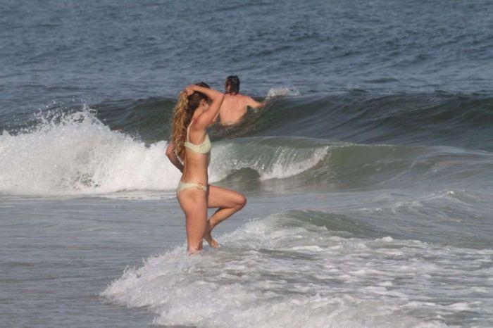 Nina Agdal On A Bikini Vacation At Beach In Hamptons