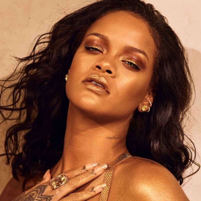 Rihanna Shoots For Fenty Beauty Body Lava 2019 Campaign