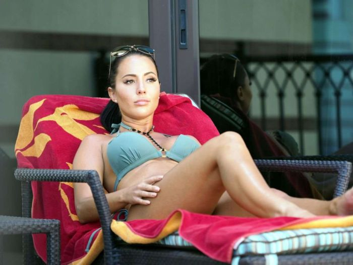 Yazmin Oukhellou Poses For A Bikini Photoshoot In Dubai